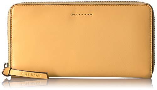 Cole Haan Women's Kaylee Continental Zip Around Leather Wallet, sunset gold (Cole Haan Medium Zip)
