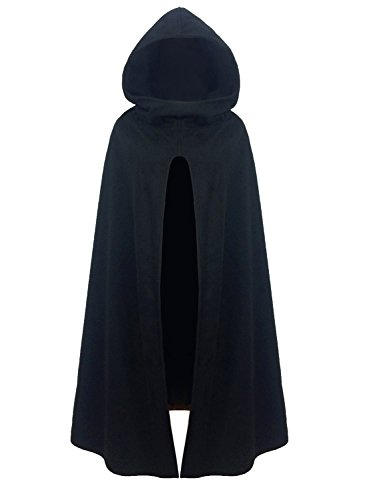 futurino Women Gothic Hooded Open Front Poncho Cape Coat Outwear Jacket Cloak]()