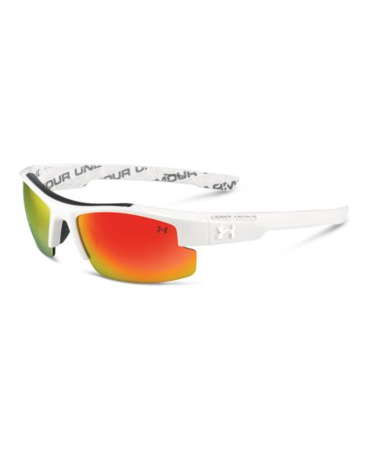 UA Youth Nitro L White w/Gray Gray w/Orange ML
