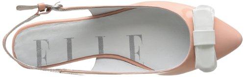 Elle Vendome 02041 - Sandalias de cuero para mujer, color gris, talla 36 Rosa (Rose)