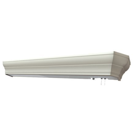 MSEC lights by AFX, HDB325WHE8, Traditional Crowned Hospital Overbed Light - Fluorescent - 25 watt - White