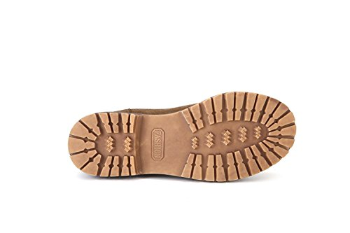 Retrò breve stivali stivali da donna in pelle aumentata femmina Martin , khaki , 39