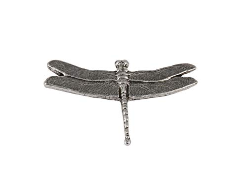 Pewter Womens Brooch - Dragonfly Damselfly Insect Pewter Lapel Pin, Brooch, Jewelry, A034