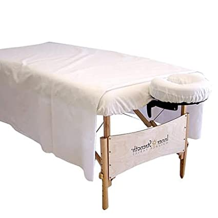 Massage Table Sheets - Percale - Professional Grade Massage Linens - Fitted Sheet 36x78x5 - Pack of 6 (White) Know Your Body Best