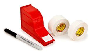 Markers 3m (3M(TM) ScotchCode(TM) Wire Marker Write-On Dispenser with Tape and Pen SWD, 0.75 in x 1.375 in)