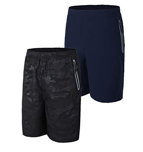 SuperArt Men's Running Shorts Reflective Gym Shorts Outdoor Sports Quick Dry Shorts...