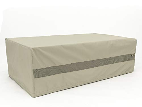 Covermates - Storage Bench Cover - 50D x 28D x 21H - Elite Collection - 3 YR Warranty - Year Around Protection - Khaki