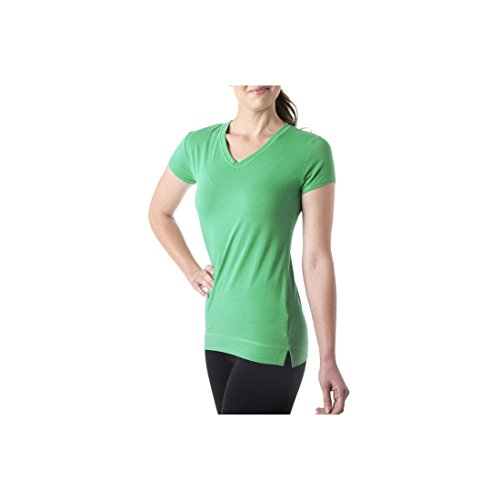 Tasc Performance Streets V-Neck Short Sleeve Performance Tee Shirt, Rainforest, Small