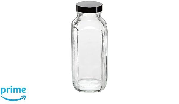 Kimble tipo III Botellas cuadradas de cristal de soda y lima con boquilla ancha francesa, transparente, Capacity:16 ounces, transparente, 40: Amazon.es: ...