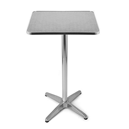 Park Alley Mange-Debout Table de Bistro, Argent, 60 x 70 x 110 cm