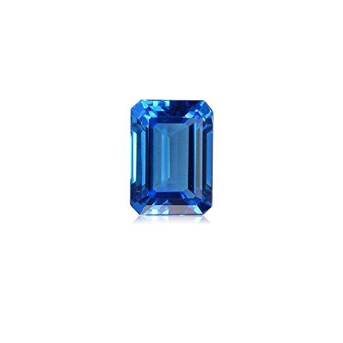 6.50-7.95 Cts of 12x10 mm AAA Emerald Cut Swiss Blue Topaz ( 1 pc ) Loose Gemstone