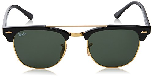 d6475aabb54 france ray 901 51 bridge black ban black clubmaster green double sunglasses  rb3816 in fqtrfwc cd25b