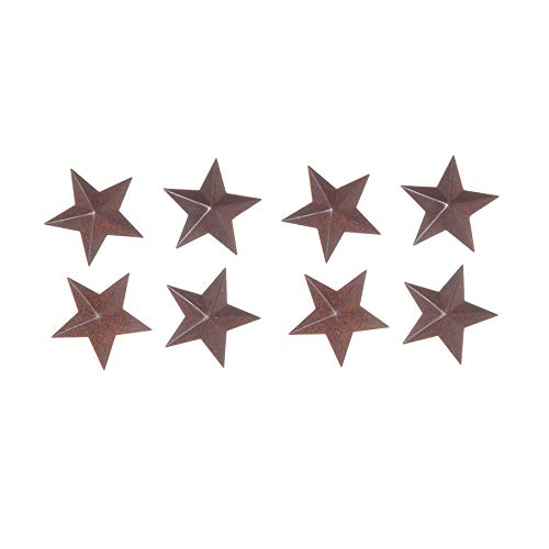 Darice Star - Rustic Tin - 1.5 inch - 4 Pieces per Pack - 2 Packs = 8 Pieces