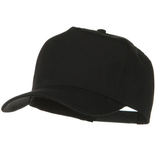 Solid Cotton Twill Pro style Golf Cap - Black (Golf Panel Twill Cap Cotton)