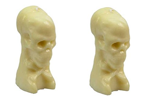 "Clarity & Muse Ritual Skull Candle 5"" - Pack of 2 (White)"