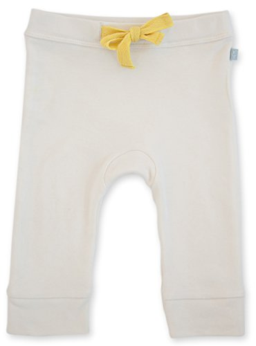 Finn + Emma Biotic Cotton Pants for Baby Boy or Girl – Off White, 0-3 Months