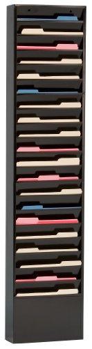 Durham 411-08 Black Cold Rolled Steel Special Purpose Literature Storage Rack, 13-1/4