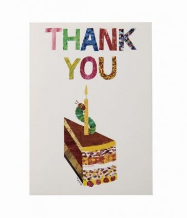 Kids Birthday Party Supplies & Decorations Party Thank you Cards Eric Carle Very Hungry Caterpillar 10 Count (British Thank You Cards compare prices)