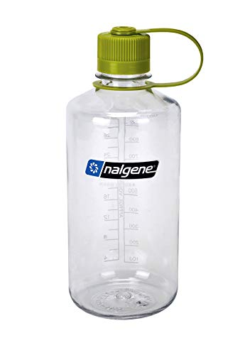 Nalgene Tritan 32-Ounce Narrow Mouth BPA-Free Water Bottle, Clear (Amp Water)