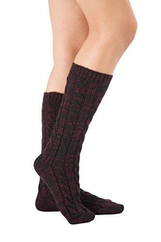 Mujer Calcetines Schwarz nica Acvip Talla weinrot vY1qq8w5