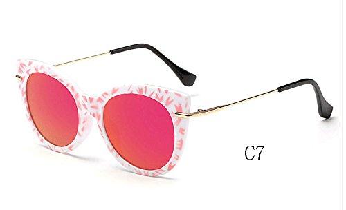 espejo de de C7 gato gafas Gafas sol Sunglasses UV400 025 de de 025 sol mujeres de ojo Gafas C7 tonos caramelo de TL AqnRgO8xWq