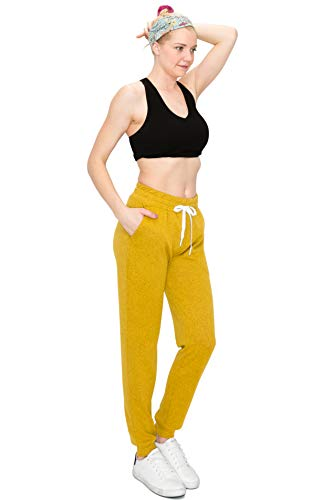 ALWAYS Women Drawstrings Jogger Sweatpants – Super Light Skinny Fit Premium Soft Stretch Pocket Pants