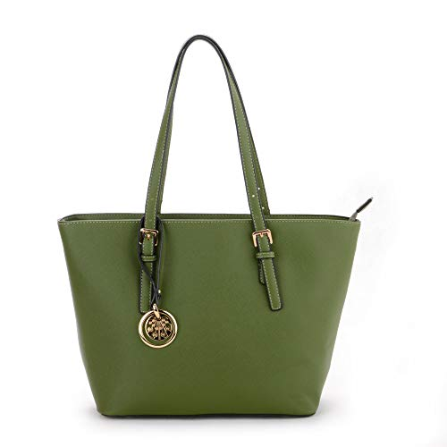 ladies Large Different Bag Bag Large Olive Work Tote London Bag Colors Strap Capacity Craze for Green Shoulder Purse Tote Women's Shoulder Shoppers qwSx0xUE4