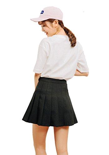 Noir Plisada Scooters Colegio monocouche Escolar Tenis Para Falda Niña 60xqaTw1