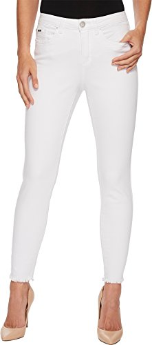 FDJ French Dressing Jeans Women's Sunset Hues Olivia Slim Ankle In White White 8 27