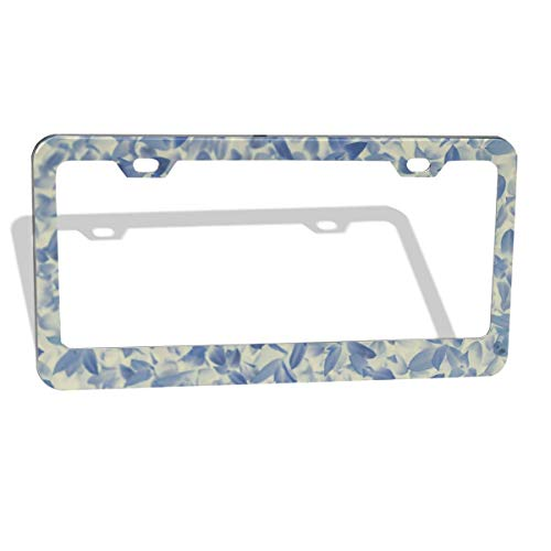 - Jksytx Waterproof Flat & Round Hole Car License Plate Frame Leaves Petal ColourName