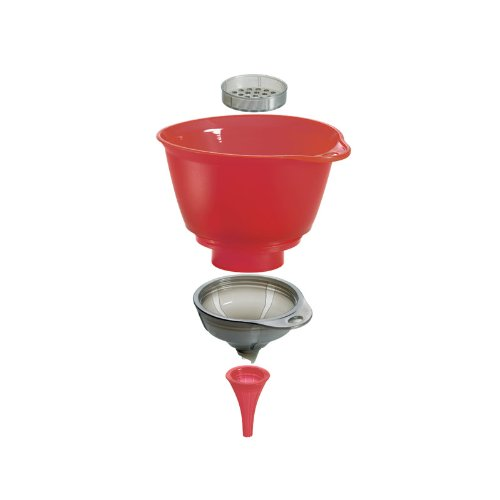 Silicone rosso, Cuisipro 3 in 1 Funnel Set Imbuto