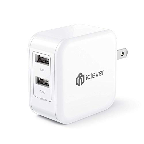 iClever 24W 4.8A Dual USB Wall Charger with SmartID Tech, Fo