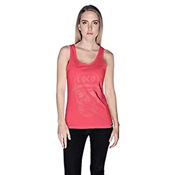 Creo Watermelon Coco Skull Tank Top For Women - S, Pink
