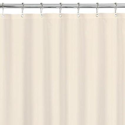 PopularHome 84quot Extra Long Waterproof Vinyl Shower Curtain Liner