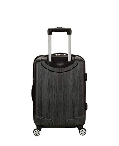 319IN89jj4L - Rockland Luggage Melbourne 20 Inch Expandable Carry On, Metallic, One Size