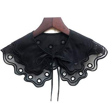 Black Temptation Moda Falso Cuello de Encaje Collar Falso Collar Accesorios Collar