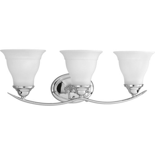Progress Lighting P3192-15 3-Light Bath Bracket, Polished Chrome