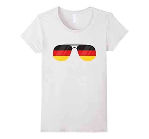 Womens Flag Sunglasses Germany T-shirt Cool German Glasses Gift Tee Medium - Germany Sunglasses