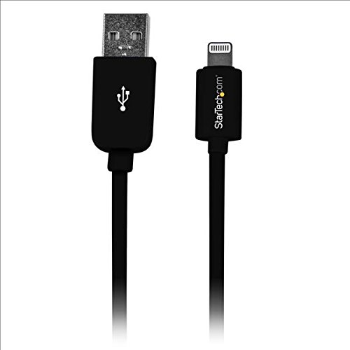StarTech.com 1m (3ft) Black Apple 8-pin Lightning Connector to USB Cable for iPhone / iPod / iPad - by StarTech