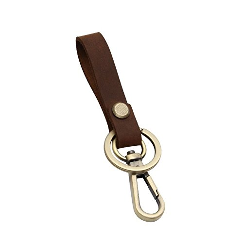Premium Handmade Genuine Leather Valet Keychain Key Ring Organizer by Harukokoro(TM) for Men and Women, Brown (Mens Leather Valet)