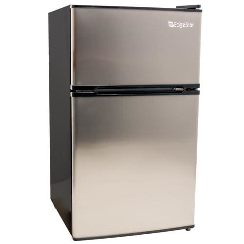Automatic Stainless Steel Freezer - EdgeStar CRF321SS 3.1 Cu. Ft. Dorm Sized Energy Star Compact Fridge/Freezer