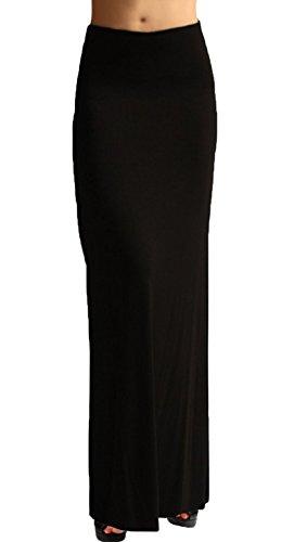 Ooh la la Special Event Stretch Velvet Maxi Skirt w Flared Back L Black V