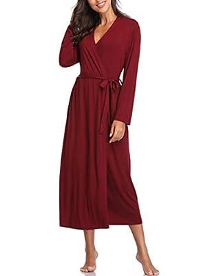 Lusofie Womens Robes Long Lightweight Bathrobe Kimono Spa Robe Soft Loungewear