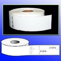 Menotek 4 rollos de 1.125x3.5 Etiquetas de envío de direcciones compatibles con Dymo 30252