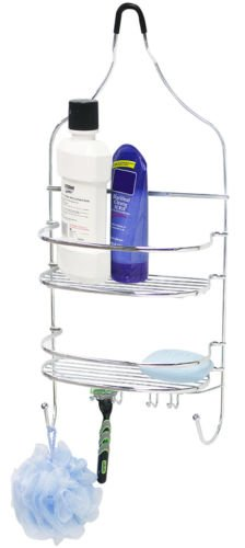 Rust Resistant Silver Chrome Plated Steel Flat Wire Shower Caddy Hold Your Shampoo, Soaps And Other Shower - Sale Curtains Debenhams