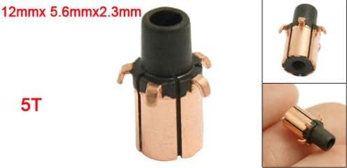 2,3mm Eje Dimeter 5Gear Diente de Cobre Shell Montado sobre Armadura Conmutador