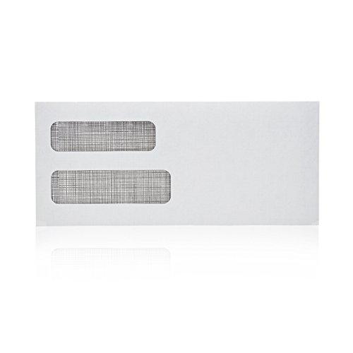 # 10 Gummed Double Window Security ~ 500 Envelopes ~ Perfect size for Multiple Business Statements, Quickbooks Invoices, and Return Envelopes -4 1/8 X 9 ½''