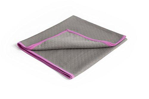 """Baby Deedee Baby Blanket - Stroller Blanket Slate/Hot Pink 30 x 40"""" (Quilted Jersey)"""