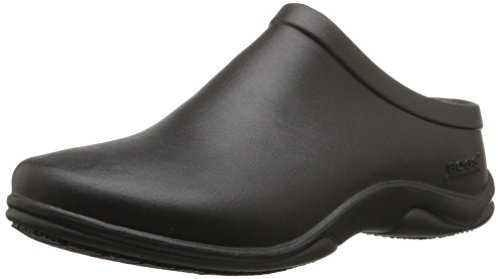 Bogs Women's Stewart Slip Resistant Work Shoe, Black, 9 M US by Bogs