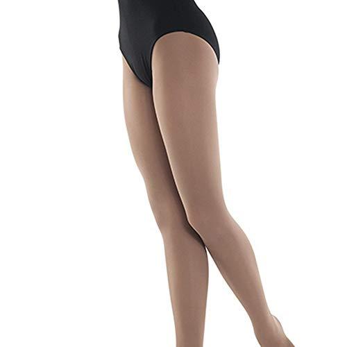 Danshuz Tights Nylon - Danshuz Big Girls Light Suntan Nylon-Micro Spandex Convertible Tights 8-10